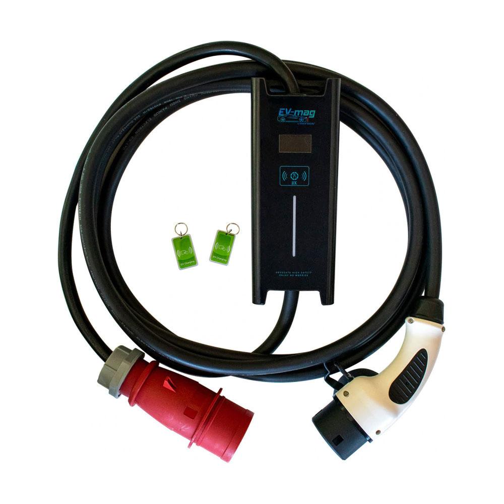 Incarcator portabil pentru masini electrice EV-MAG GSZ2-32R, 7.2 kW, 32A, type 2