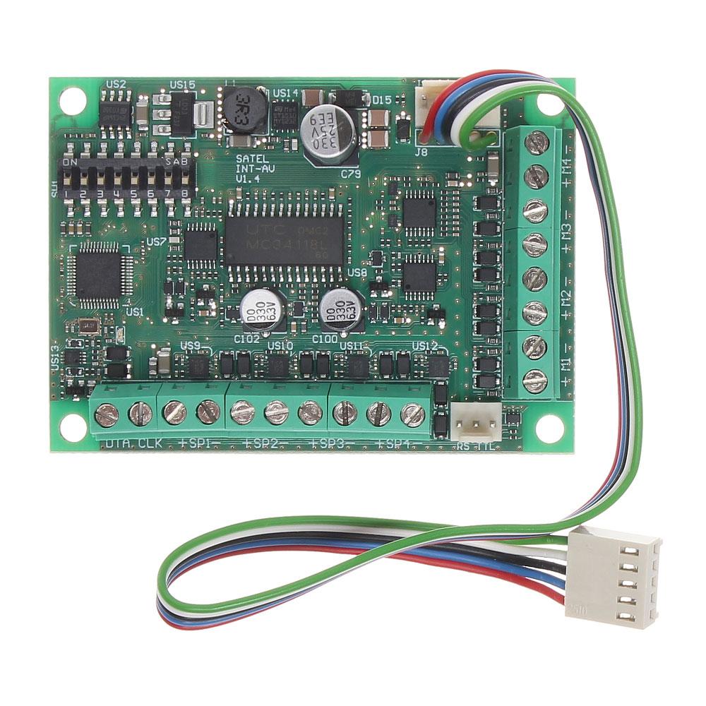 Modul de verificare audio Satel INT-AV, bidirectional, 12VDC