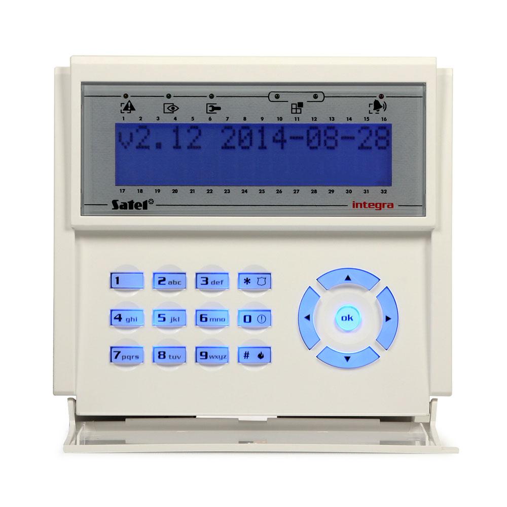 Tastatura LCD Satel INT-KLCD-BL, 3 butoane functionale, extensie 2 zone, buzzer