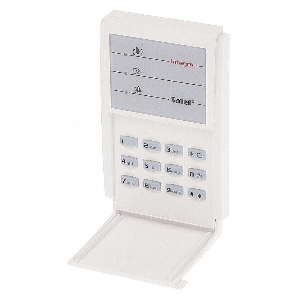 Tastatura LED Satel INT-SZ-GR, 3 butoane functionale, iesire yala electrica, monitorizare usa