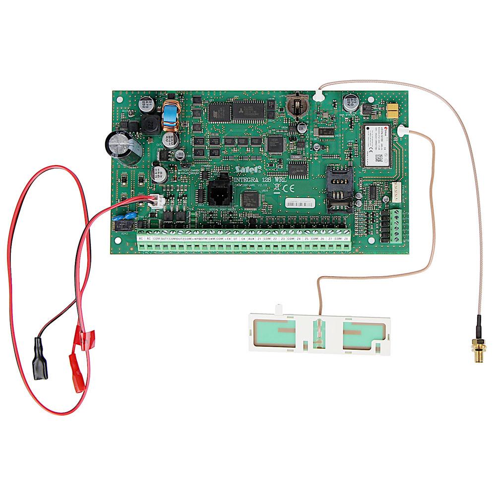 Centrala alarma antiefractie cu modul wireless Satel INTEGRA 128-WRL, 32 partitii, 8-128 zone, 8-128 iesiri PGM, 240 utilizatori