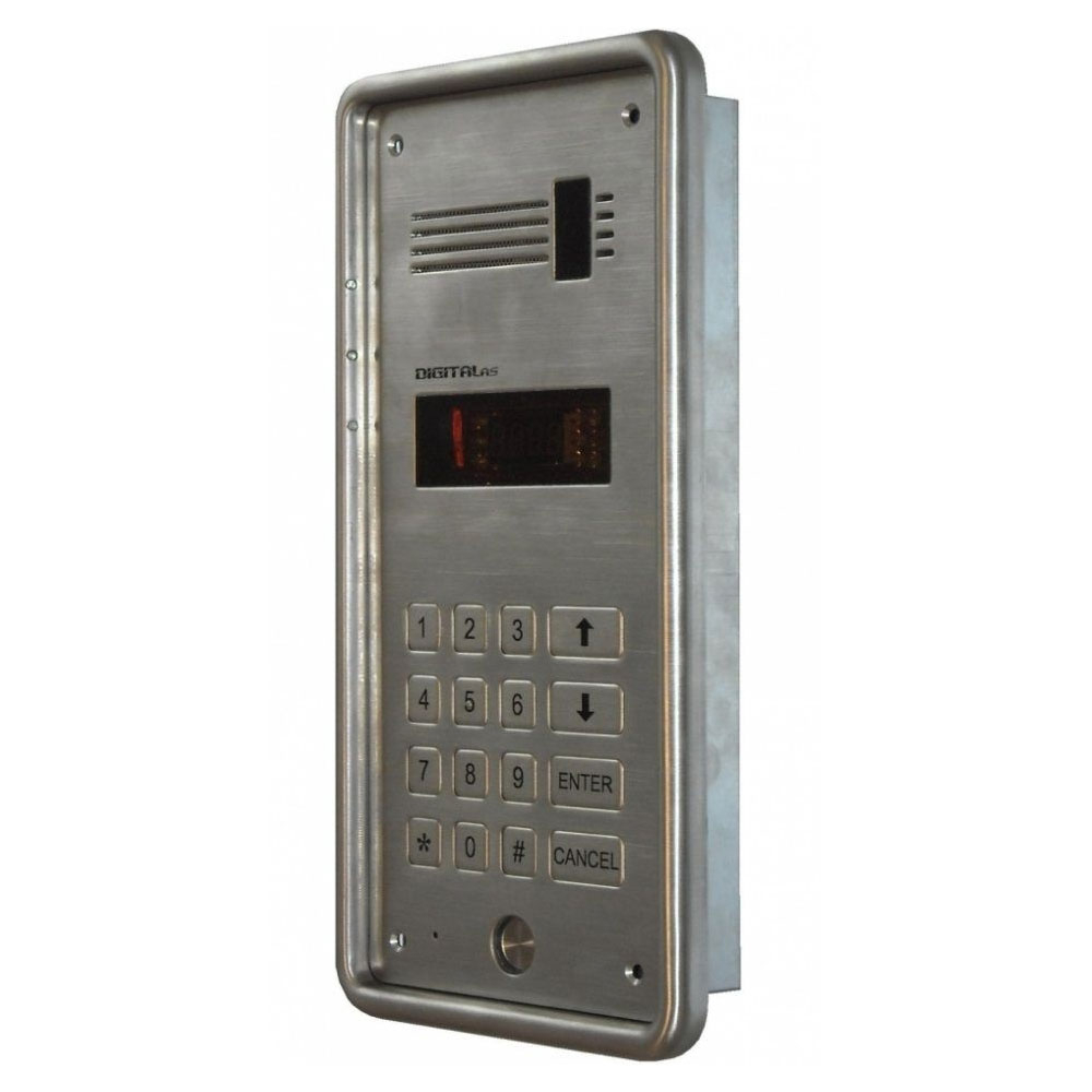Interfon de exterior DigitalAS DD-5100 R, 254 familii, 2 fire, ingropat imagine spy-shop.ro 2021