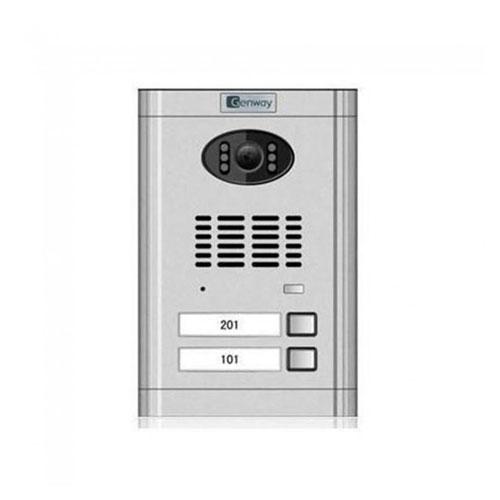 Videointerfon de exterior Genway CM-02NE-C 1*2, 2 familii, ingropat, vila