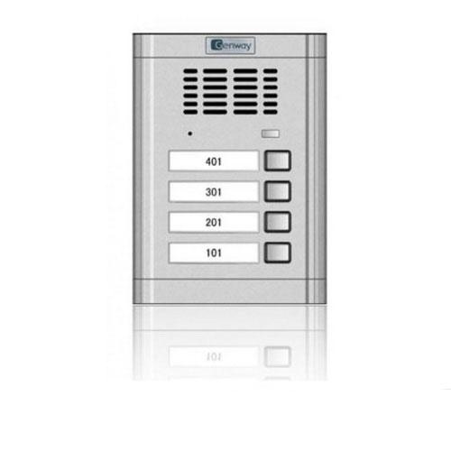 Interfon de exterior Genway WL-02NE 1*4, 4 familii, ingropat, aluminiu