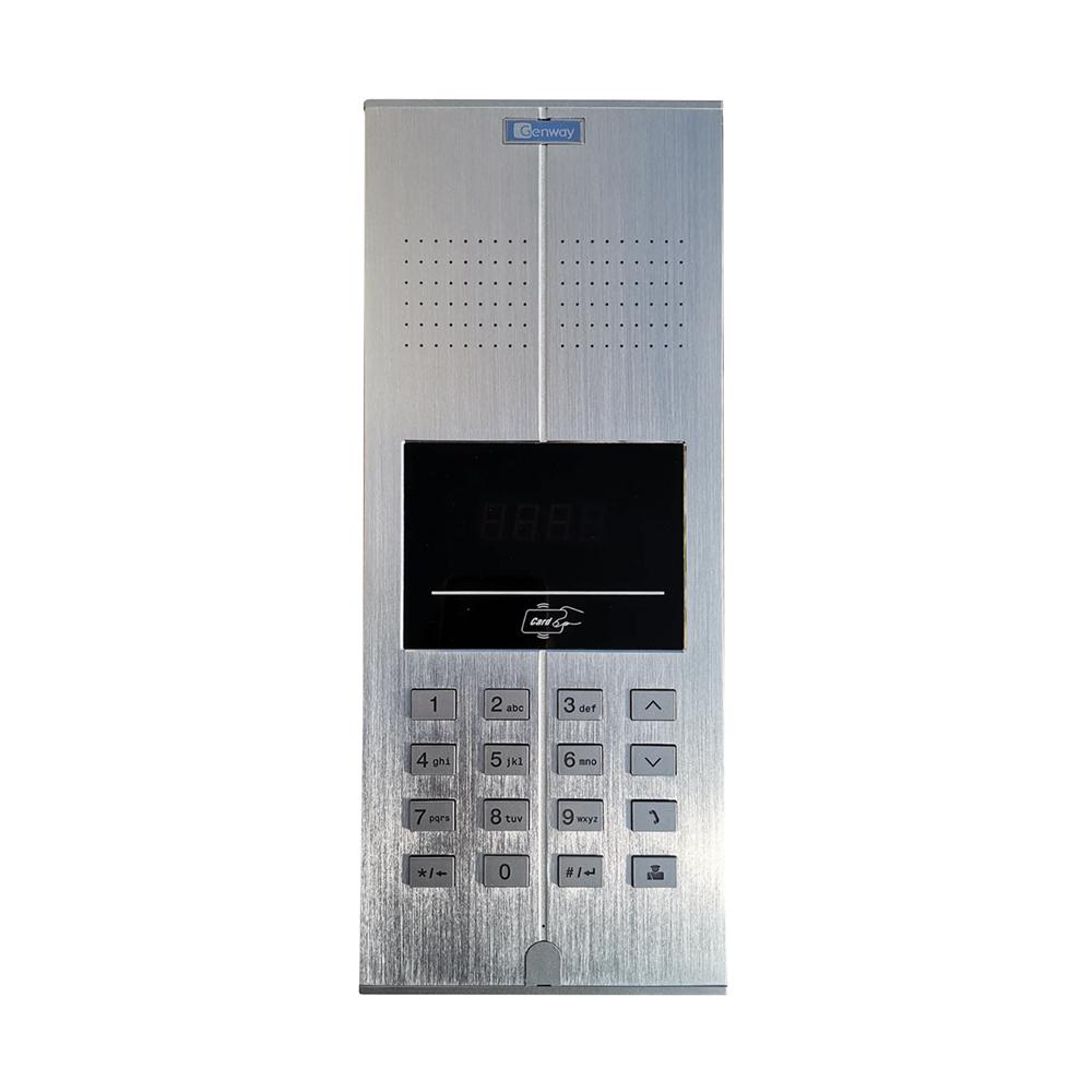 Interfon de exterior Genway WL-03NLX, 400 posturi, 4000 cartele, RFID 125 Khz, cod, ingropat