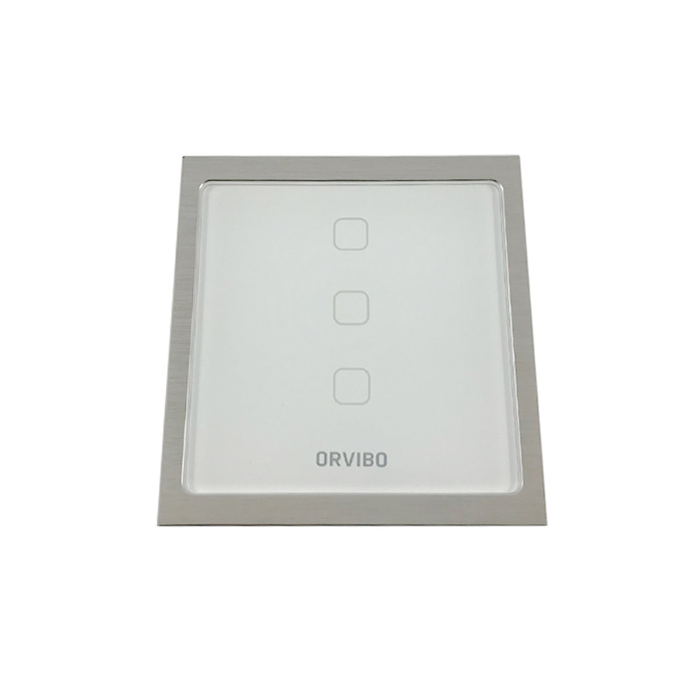Intrerupator de lumina smart Wi-Fi Orvibo T20W3Z, protocol ZigBee, 3 iesiri, 60 m, 2.4 GHz imagine spy-shop.ro 2021