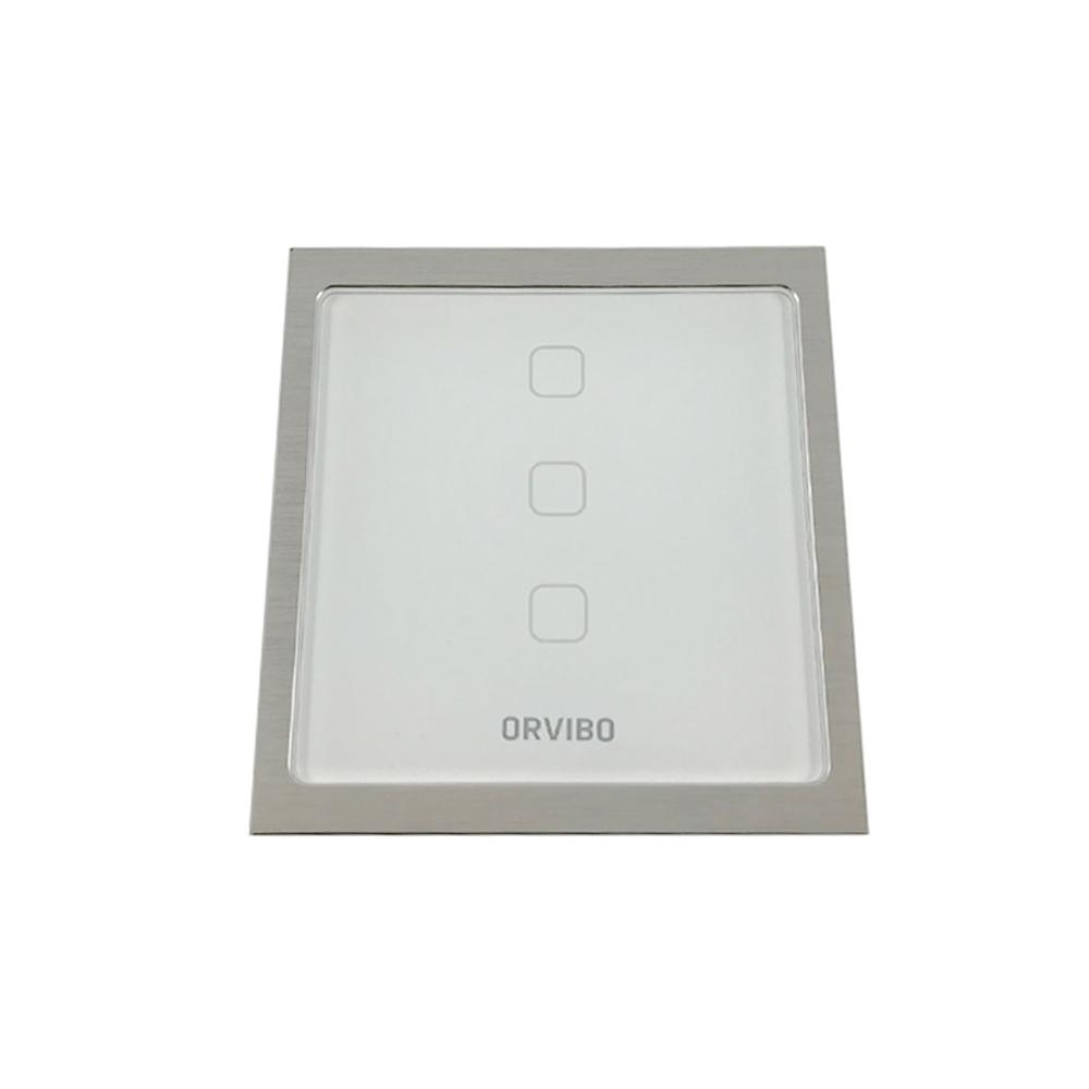 Intrerupator de lumina smart Wi-Fi Orvibo T20W3Z, protocol ZigBee, 3 iesiri, 60 m, 2.4 GHz imagine spy-shop.ro 2021