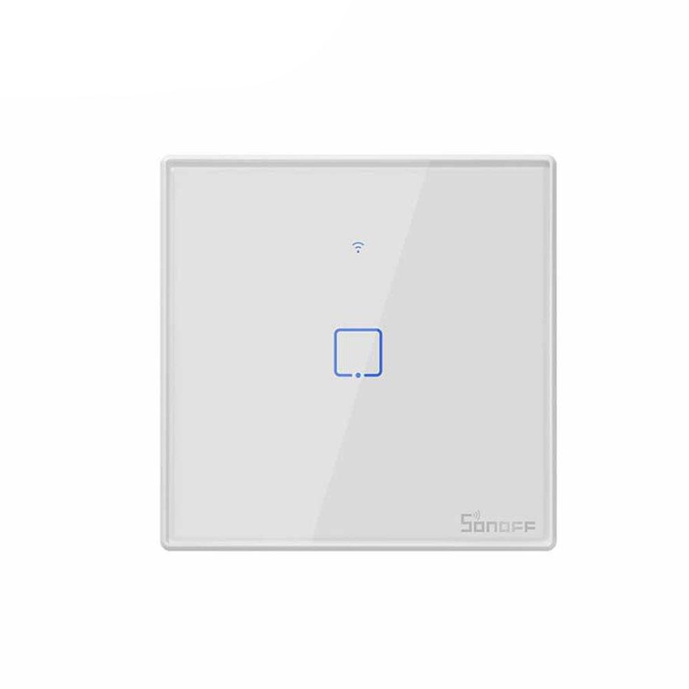 Intrerupator lumina WiFi SONOFF T1EU1C-TX, 433MHz, control LAN, 1 buton