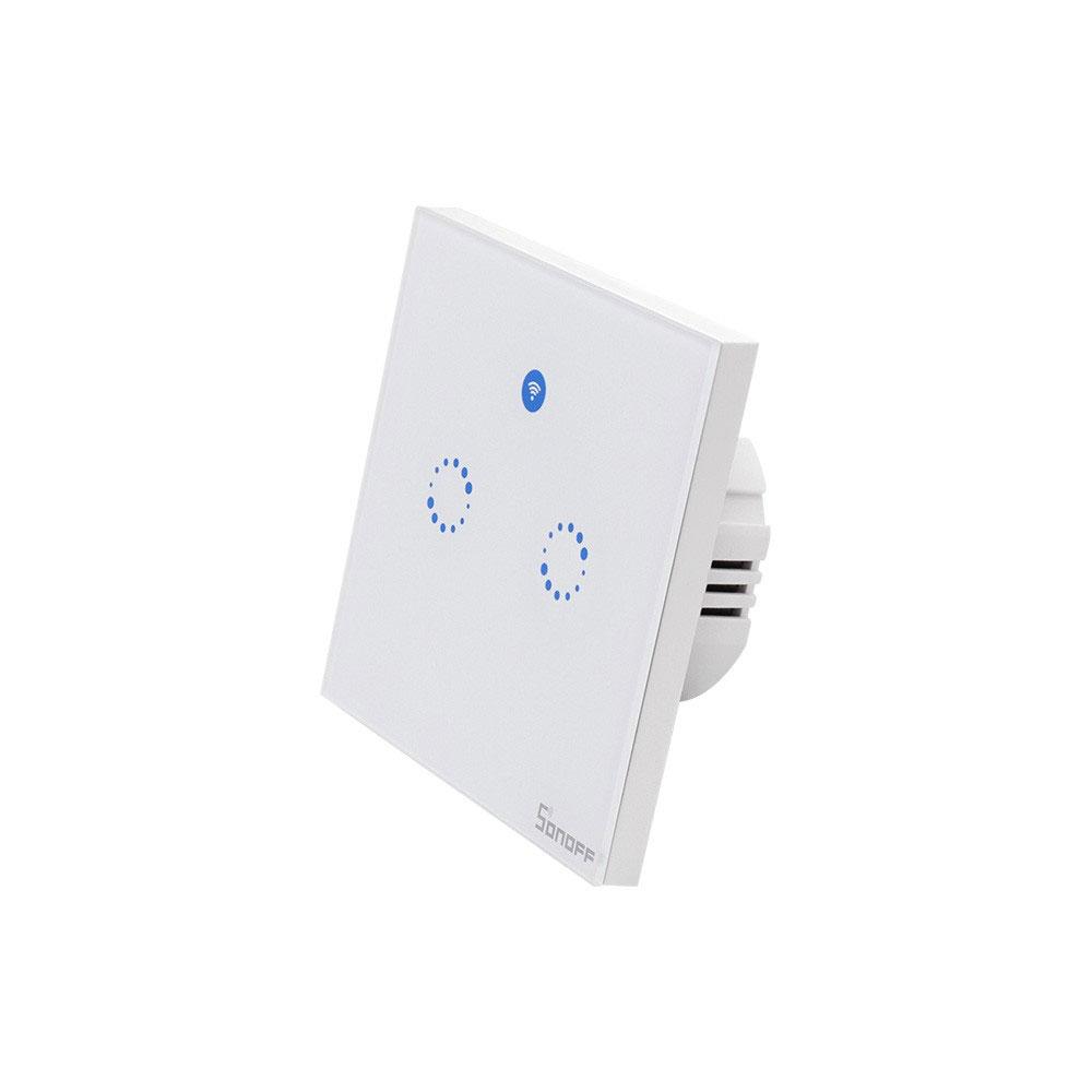 Intrerupator lumina WiFi SONOFF 2RX, 433MHz, 600W, 2 butoane