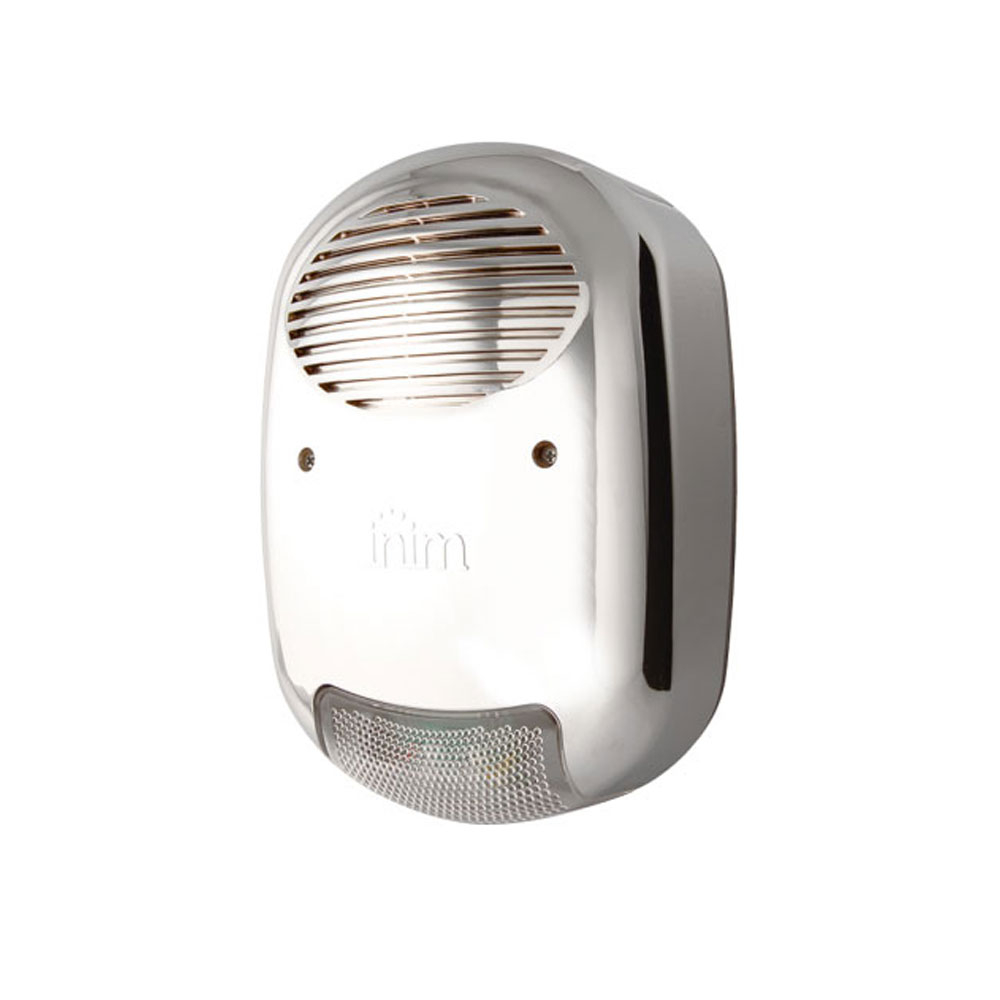 Sirena de exterior cu flash Inim IVY-M, 110 dB, 4 tonuri, aspect cromat imagine spy-shop.ro 2021