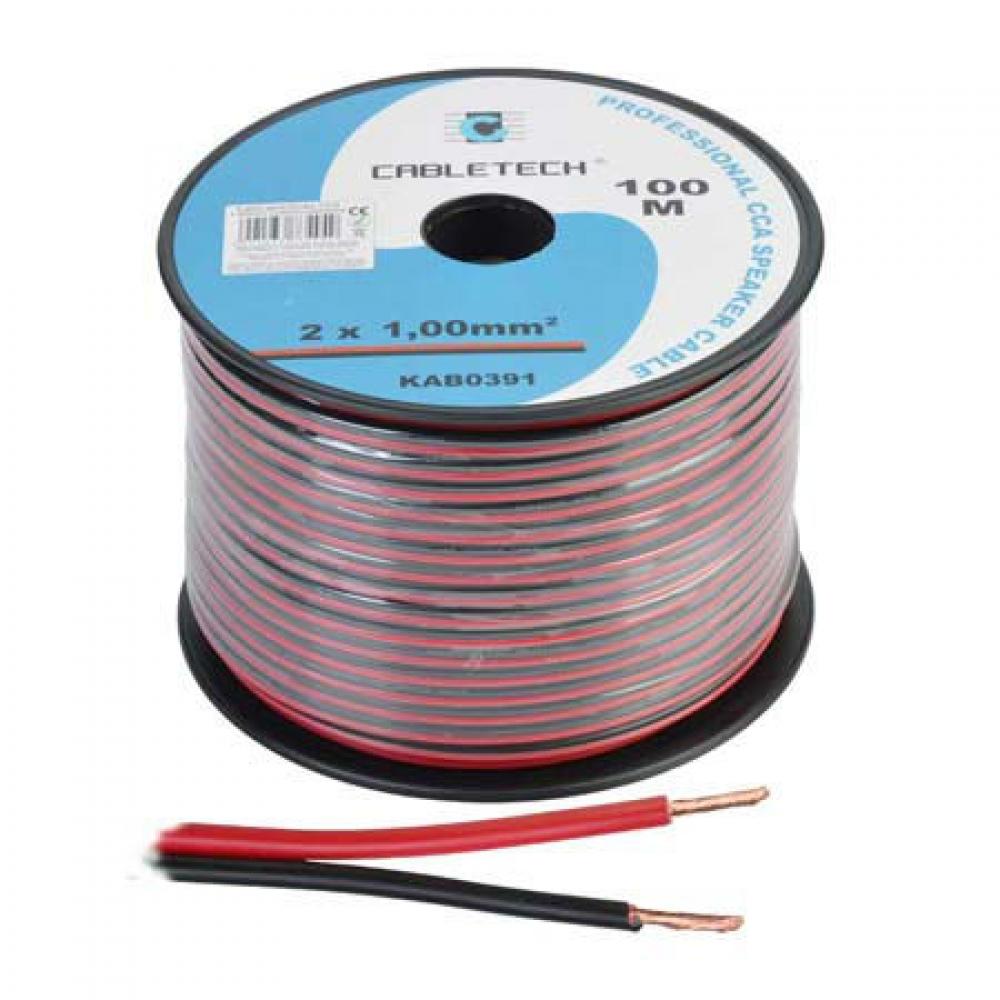 Cablu profesional pentru boxe CCA CABLETECH, 100 M, 2x1.00 mm2