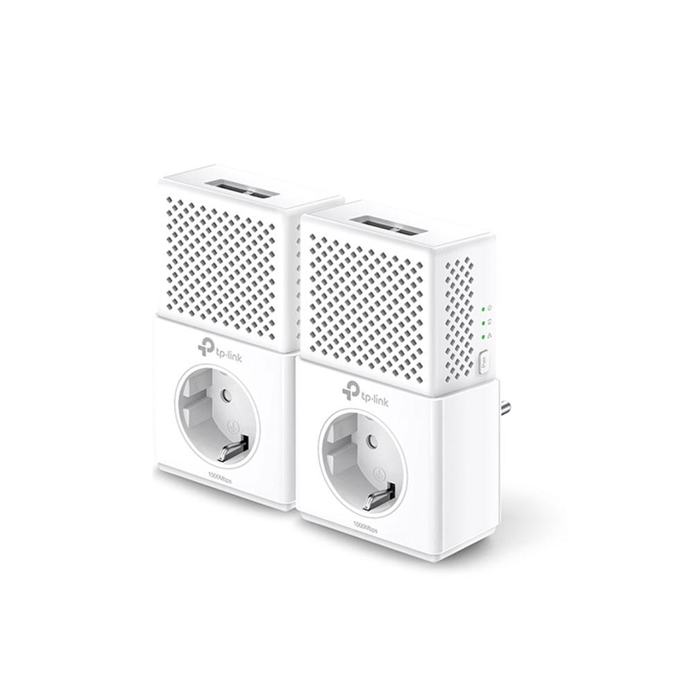 Kit adaptor powerline Gigabit TP-Link TL-PA7020PKIT, 1000 Mbps, 300 m, control de pe telefon imagine spy-shop.ro 2021