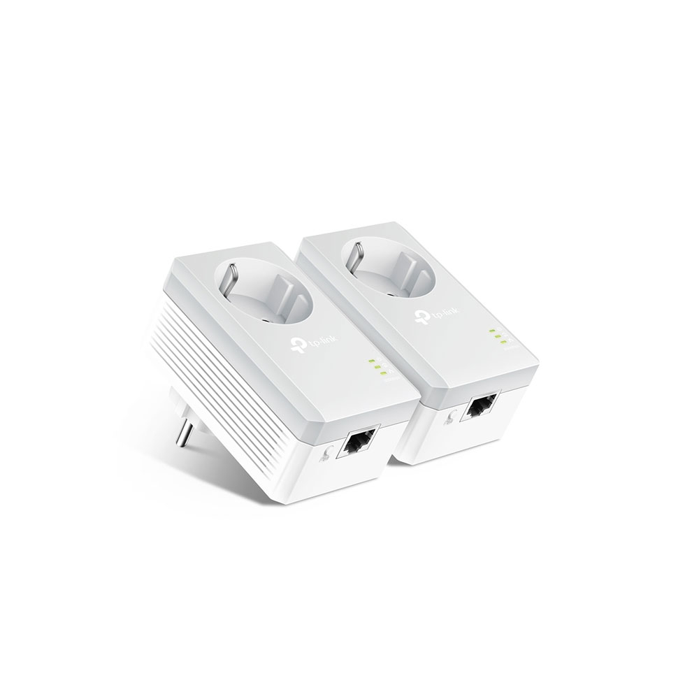 Kit adaptor powerline TP-Link TL-PA4010PKIT, 600 Mbps, 300 m, priza AC imagine spy-shop.ro 2021