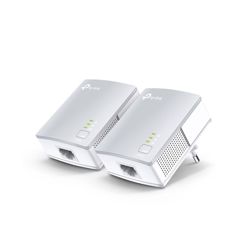 Kit adaptor powerline TP-Link TL-PA411KIT, 600 Mbps, 300 m, control de pe telefon imagine spy-shop.ro 2021