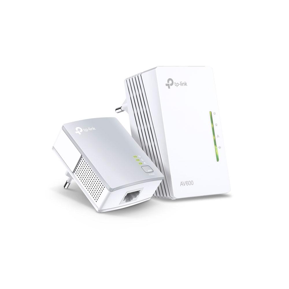 Kit adaptor powerline TP-Link TL-WPA4220KIT, 300 Mbps, 300 m, control de pe telefon imagine spy-shop.ro 2021