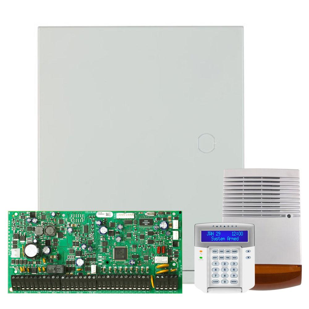 Kit alarma antiefractie Paradox Digiplex EVO192+K641+SL-900B, 8 partitii, 8-192 zone, 999 utilizatori, cutie cu traf