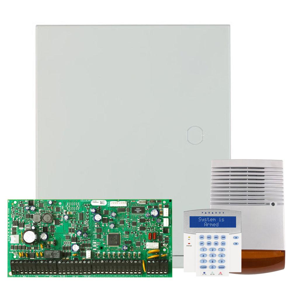Kit alarma antiefractie Paradox Digiplex EVO192+K641R+SL-900B, 8 partitii, 8-192 zone, 999 utilizatori, cutie cu traf imagine spy-shop.ro 2021