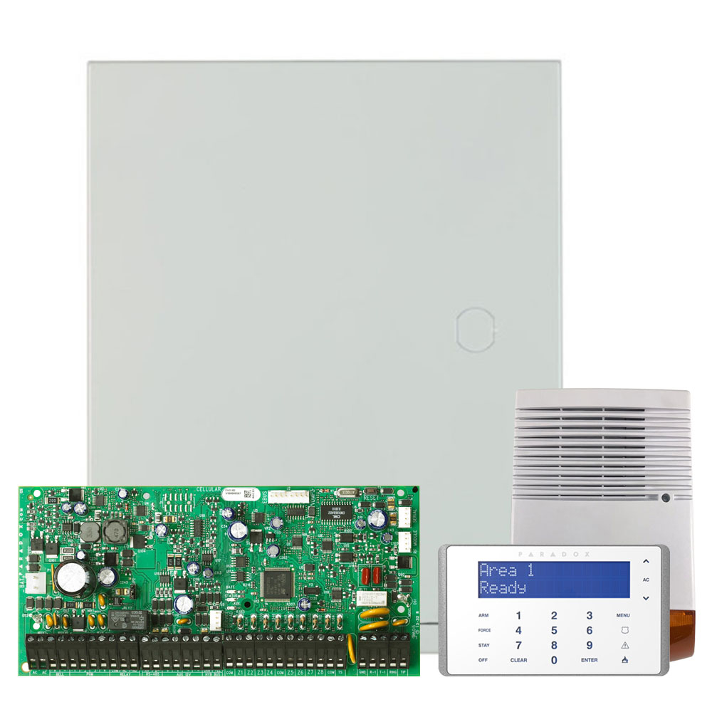 Kit alarma antiefractie Paradox Digiplex EVO192+K656+SL-900B, 8 partitii, 8-192 zone, 999 utilizatori, cutie cu traf imagine spy-shop.ro 2021