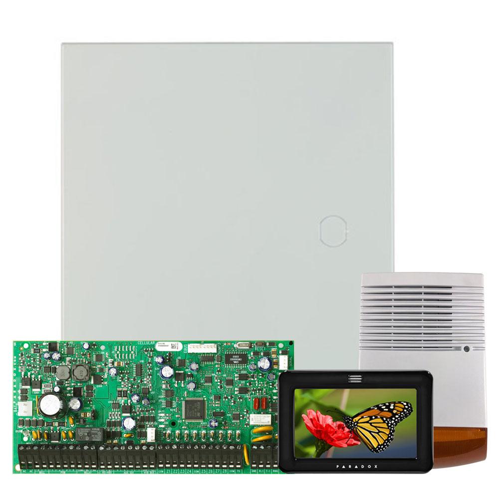 Kit alarma antiefractie Paradox Digiplex EVO192+TM50+SL-900B, 8 partitii, 8-192 zone, 999 utilizatori, cutie cu traf