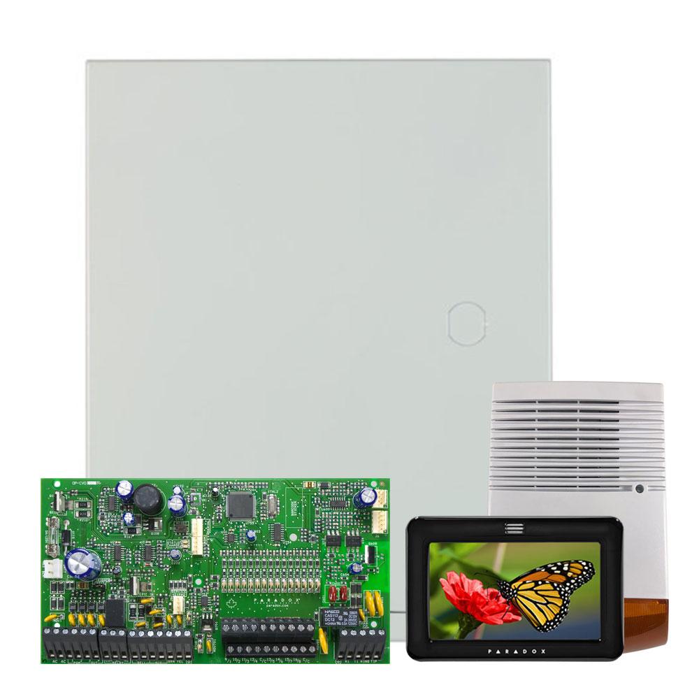 Kit alarma antiefractie Paradox Spectra SP7000+TM50+SL-900B, 2 partitii, 16-32 zone, 32 utilizatori, cutie cu traf imagine spy-shop.ro 2021