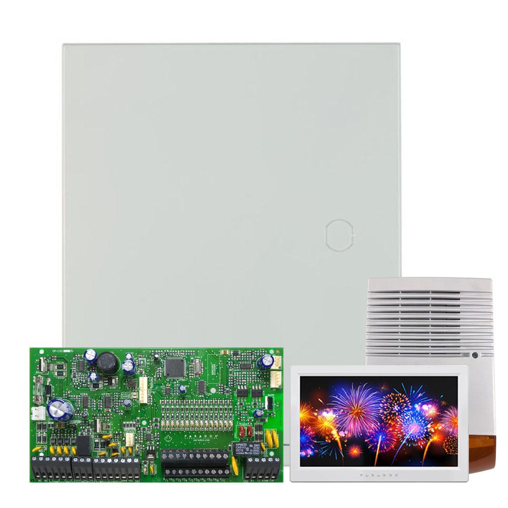 Kit alarma antiefractie Paradox Spectra SP7000+TM70+SL-900B, 2 partitii, 16-32 zone, 32 utilizatori, cutie cu traf imagine spy-shop.ro 2021