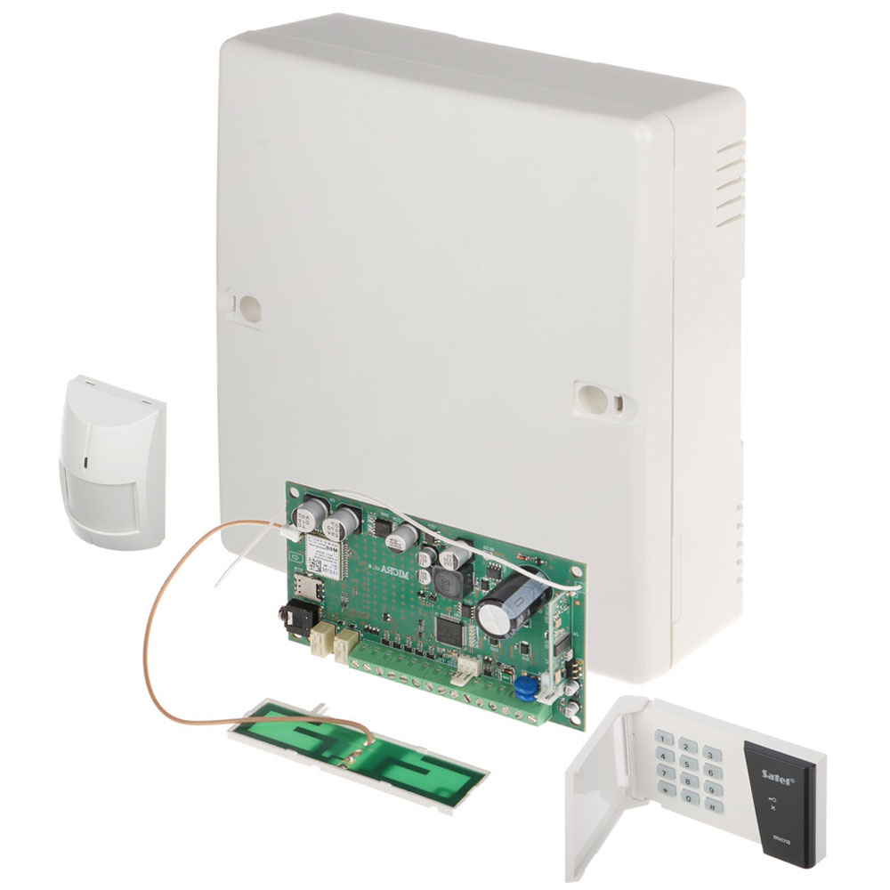 Kit alarma antiefractie wireless Satel MICRA, 5 zone, GSM/GPRS, 433 MHz