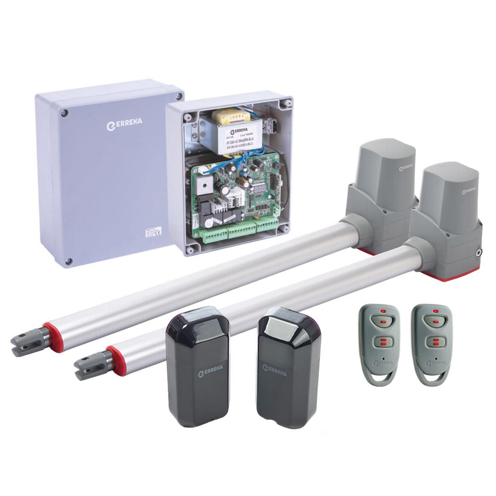 Kit automatizare poarta batanta Erreka TEMIS2, 200 Kg/canat, 2.2 m/canat, 24 V