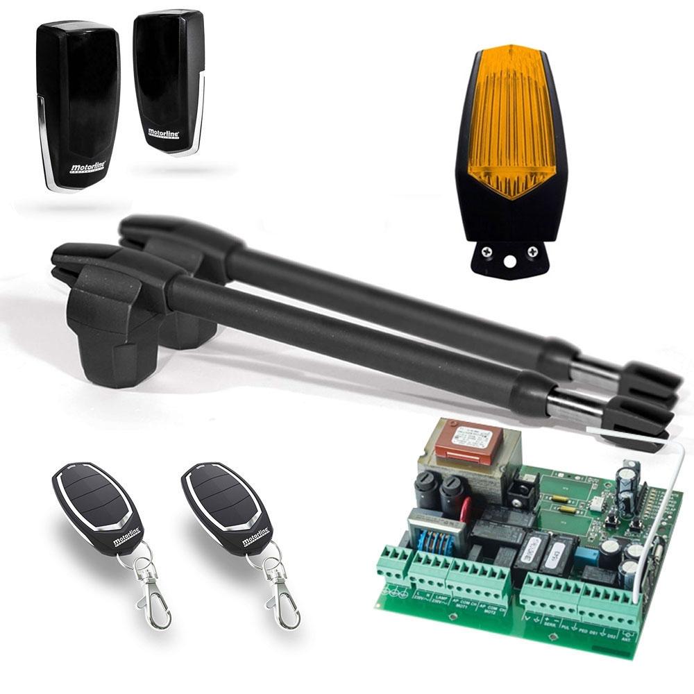 Kit automatizare poarta batanta Motorline LINCE 300 - 230V, 2.5 m/canat, 250 Kg/canat, 180 W imagine spy-shop.ro 2021
