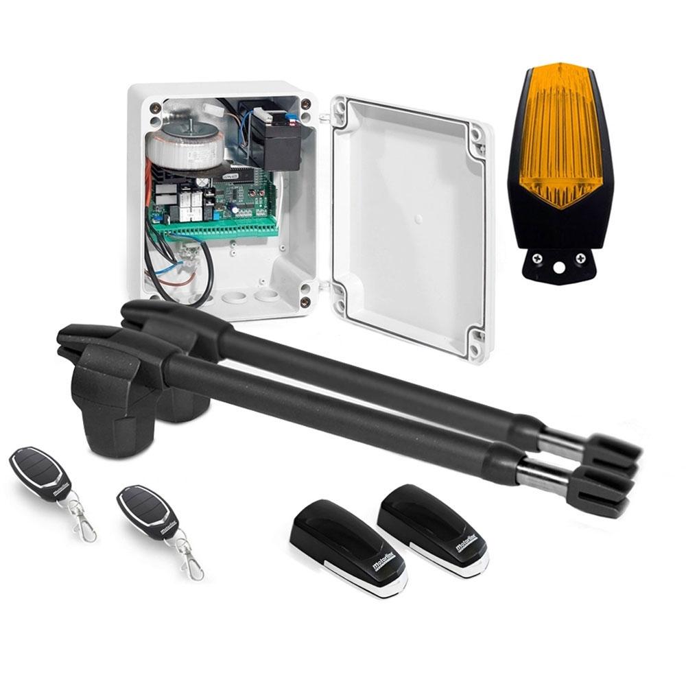 Kit automatizare poarta batanta Motorline LINCE 400 - 24V, 250 Kg/canat, 4 m/canat, 60 W