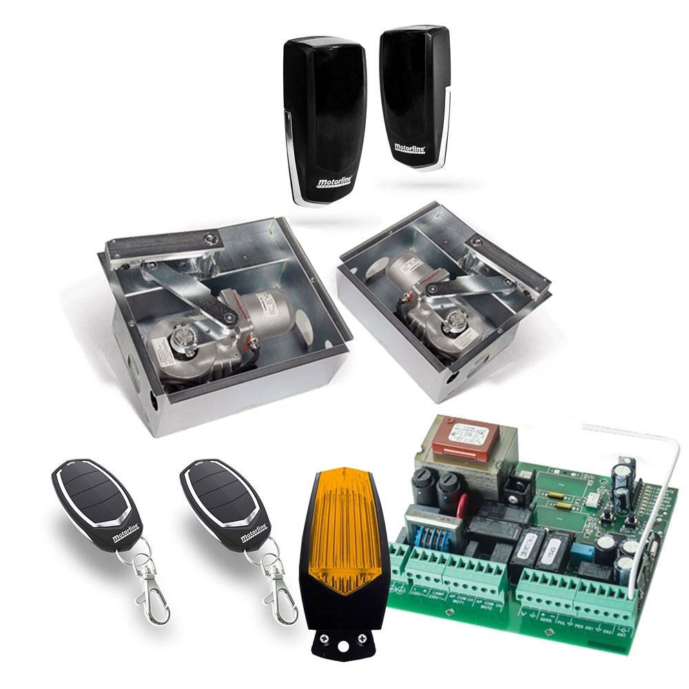 Kit automatizare poarta batanta Motorline SUBWING700, 2.5 m/canat, 230 Vac, 500 Kg/canat