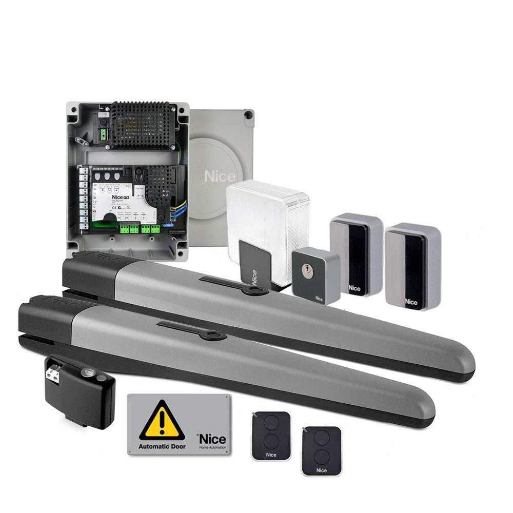 Kit automatizare poarta batanta Nice TOONA4024KCE, 500 Kg/canat, 3 m/canat, 24 V imagine spy-shop.ro 2021