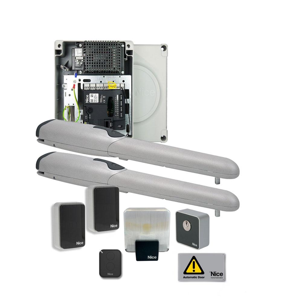 Kit automatizare poarta batanta Nice WINGO5024KCE, 200 Kg/canat, 3.5 m/canat, 24 V imagine spy-shop.ro 2021