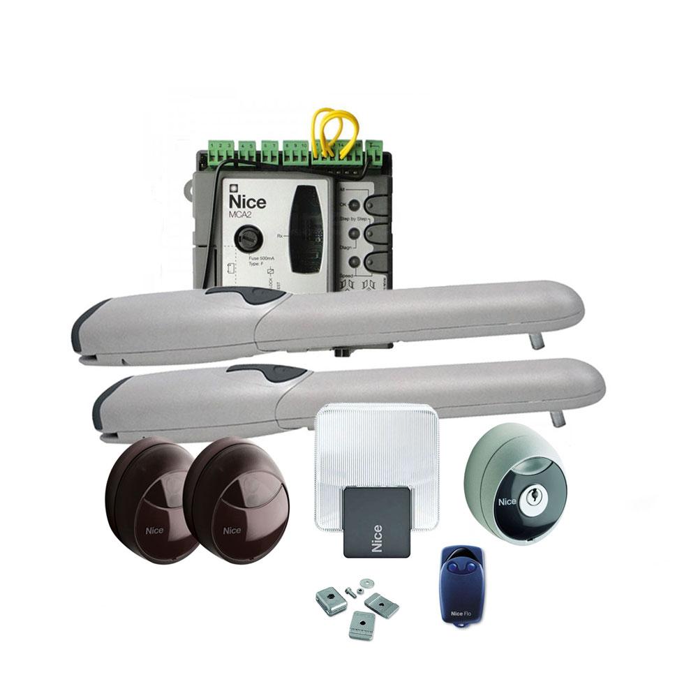 Kit automatizare poarta batanta Nice WINGOKCE COMBO, 2 m/canat, 200 Kg/canat, 230 V imagine spy-shop.ro 2021