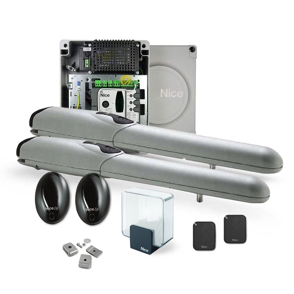 Kit automatizare poarta batanta Nice WINGOKIT 3524 FULL, 200 Kg/canat, 3.5 m/canat, 24 V