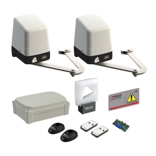 Kit automatizare poarta batanta Roger Technology BH23/284, 2.8 m/canat, 24 V, 300 Kg/canat imagine spy-shop.ro 2021