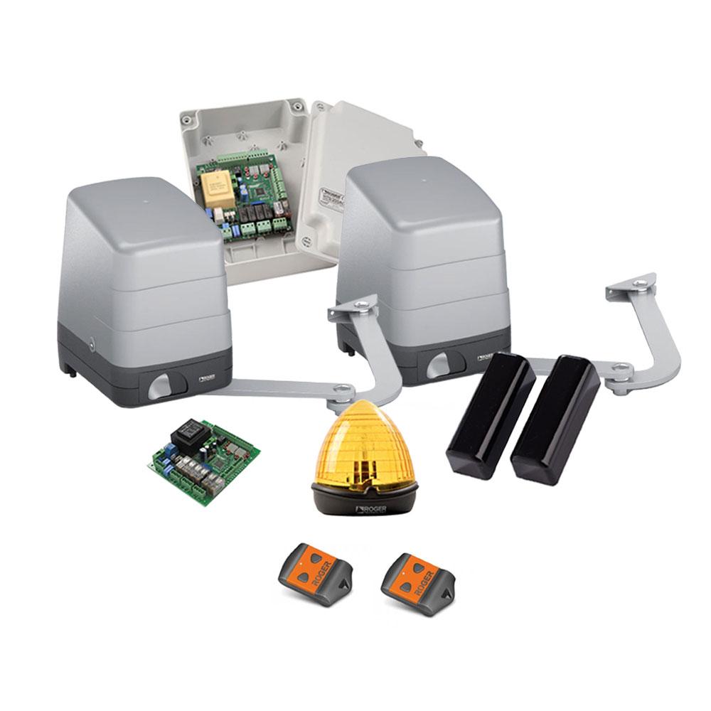 Kit automatizare poarta batanta Roger Technology H23/284, 2.8 m/canat, 400 Kg/canat, 230 V imagine spy-shop.ro 2021