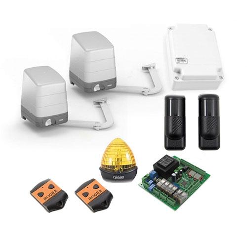 Kit automatizare poarta batanta Roger Technology H23284, 2.8 m/canat, 230 V, 200 W