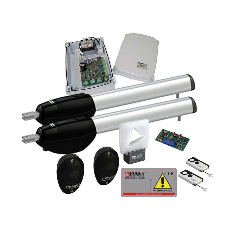 Kit automatizare poarta batanta Roger Technology KIT BE/210, 2.5 m, 300 Kg, 24 Vdc imagine spy-shop.ro 2021
