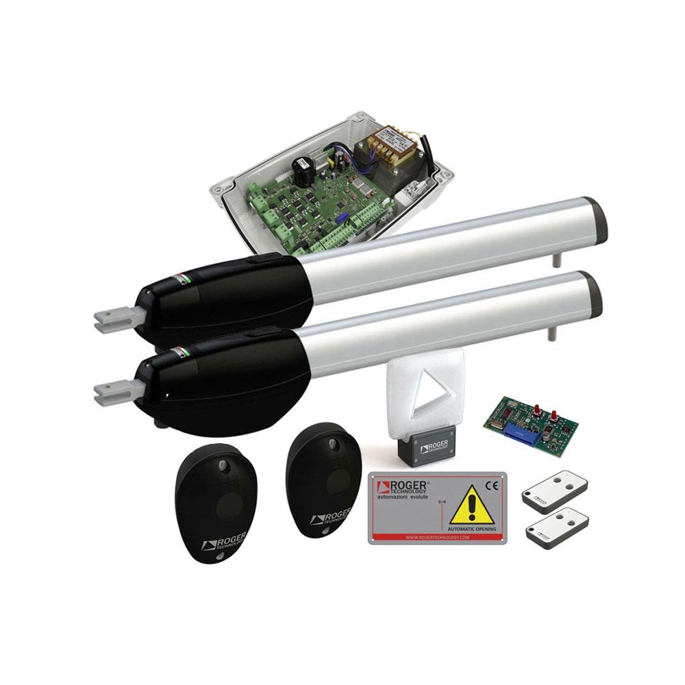 Kit automatizare poarta batanta Roger Technology KIT BE/211 HS, 2.5 m, 300 Kg, 230 V AC