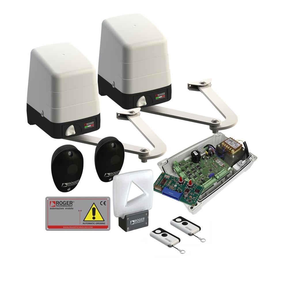 Kit automatizare poarta batanta Roger Technology KIT BH23/254/HS, 2.5 m, 250 Kg, 230V AC imagine spy-shop.ro 2021