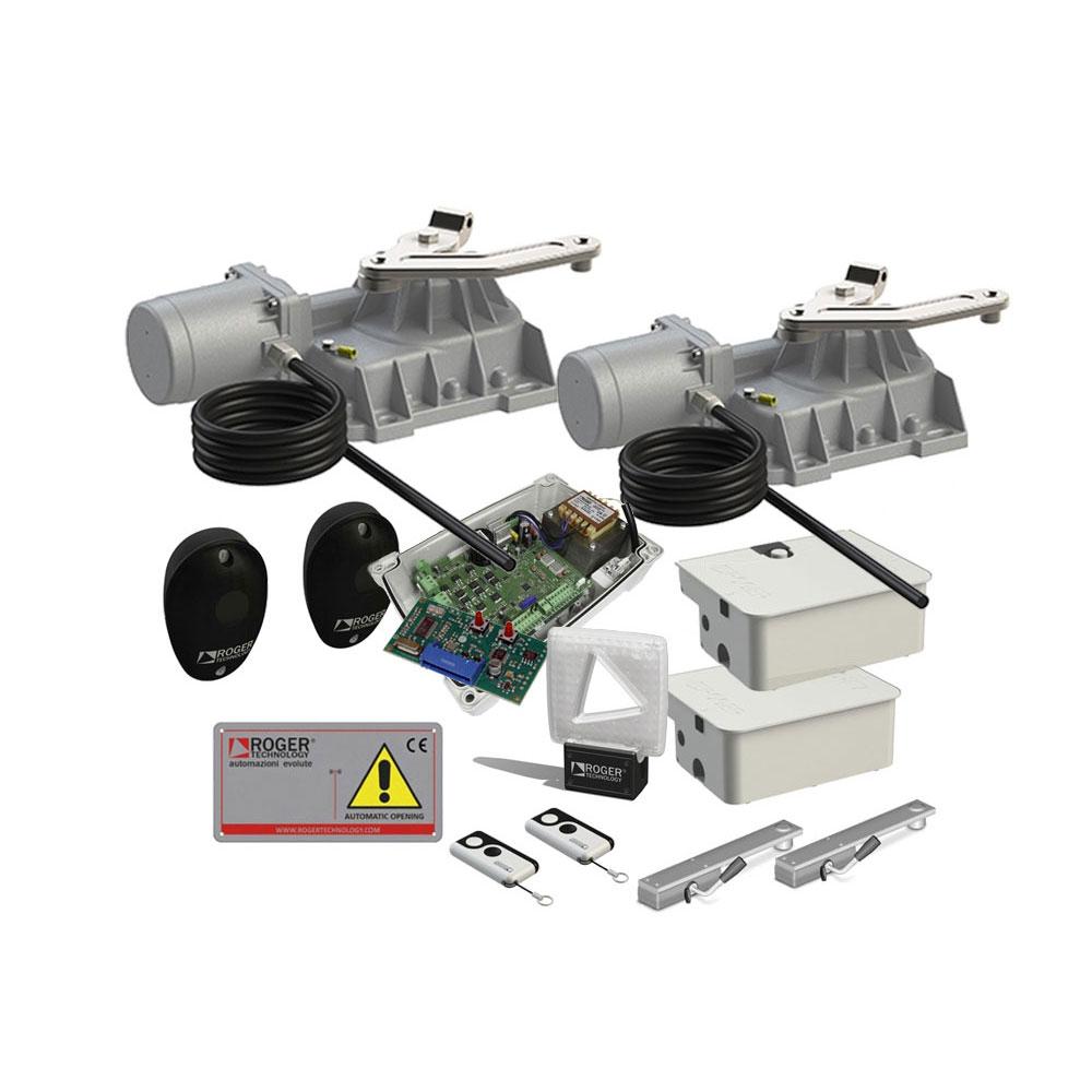 Kit automatizare poarta batanta Roger Technology KIT BR21/353/HS, 3 m, 400 Kg, 230V AC imagine spy-shop.ro 2021