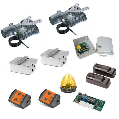 Kit automatizare poarta batanta Roger Technology Kit R21/353, 3.5 m/canat, 230 Vac, 800 Kg/canat