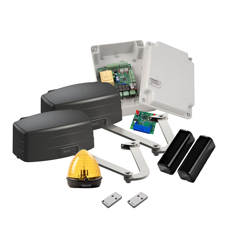Kit automatizare poarta batanta Roger Technology KIT R23/371, 3 m, 200 Kg, 230 V AC imagine spy-shop.ro 2021