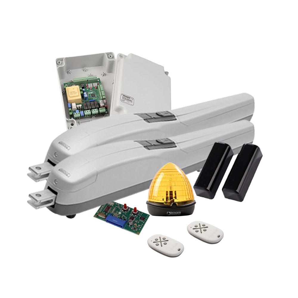 Kit automatizare poarta batanta Roger Technology M20, 3 m/canat, 800 Kg/canat, 230 V imagine spy-shop.ro 2021