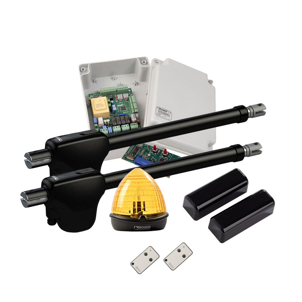 Kit automatizare poarta batanta Roger Technology MONOS4, 3 m/canat, 300 Kg/canat, 230 V imagine spy-shop.ro 2021