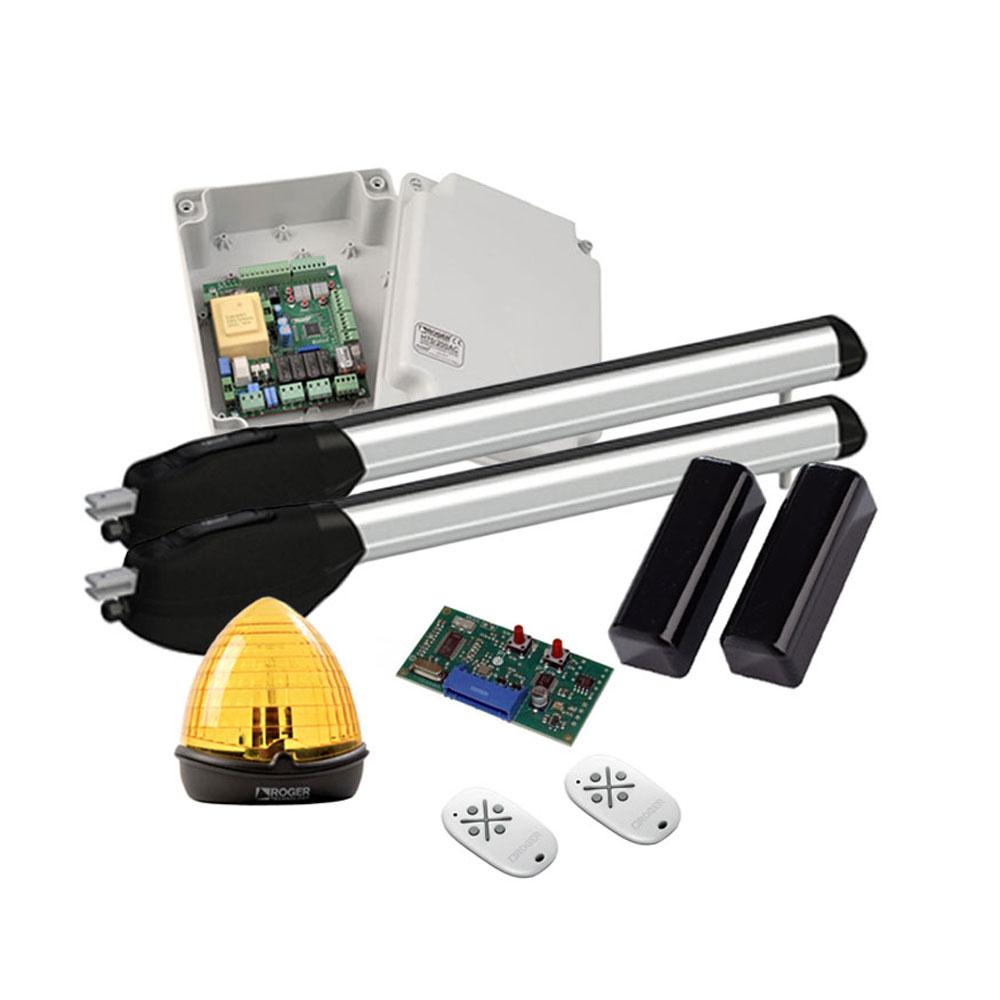 Kit automatizare poarta batanta Roger Technology R20/500, 5 m/canat, 400 Kg/canat, 230 Vac imagine spy-shop.ro 2021