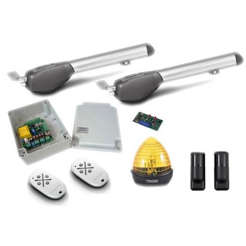 Kit automatizare poarta batanta Roger Technology R20/500, 5 m/canat, 230 Vac, 200 W