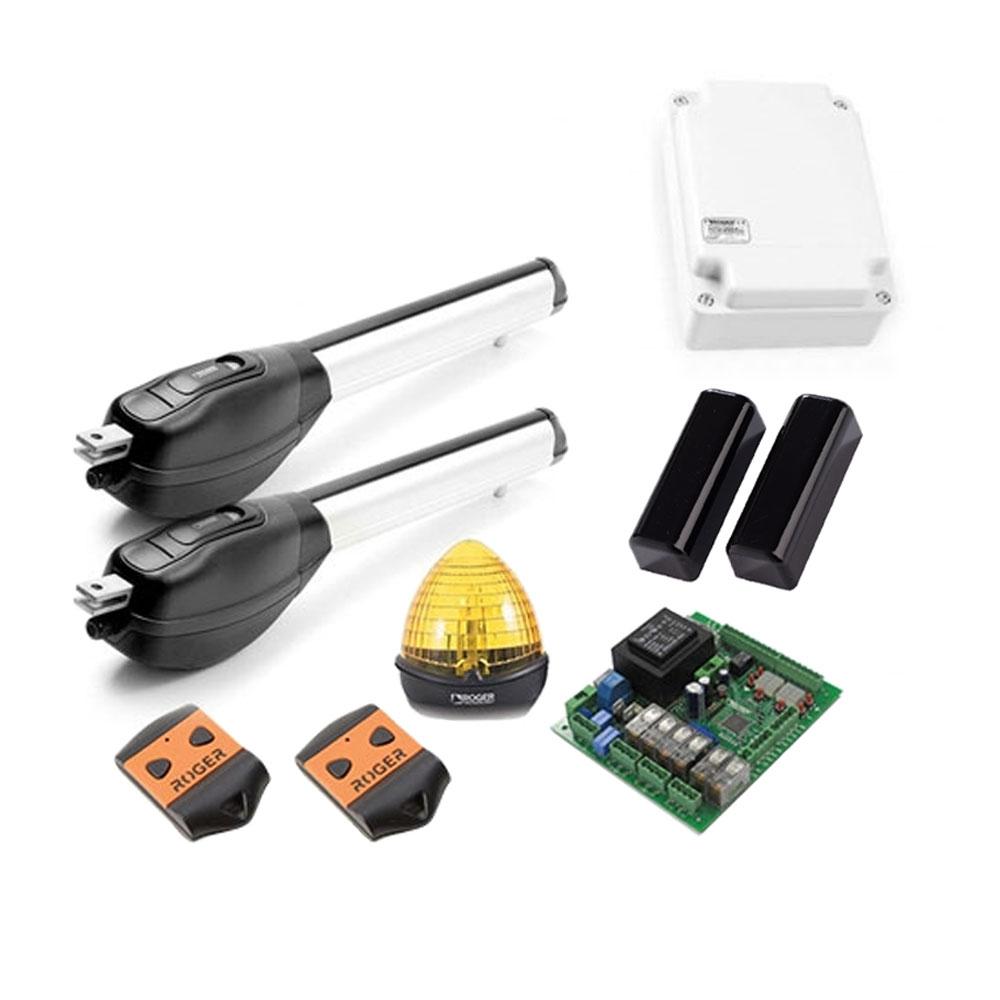 Kit automatizare poarta batanta Roger Technology R20/520, 5 m/canat, 400 Kg/canat, 230 Vac imagine spy-shop.ro 2021