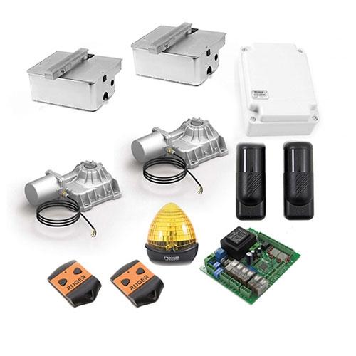 Kit automatizare poarta batanta Roger Technology R21373, 3.5 m/canat, 230 Vac, 200 W