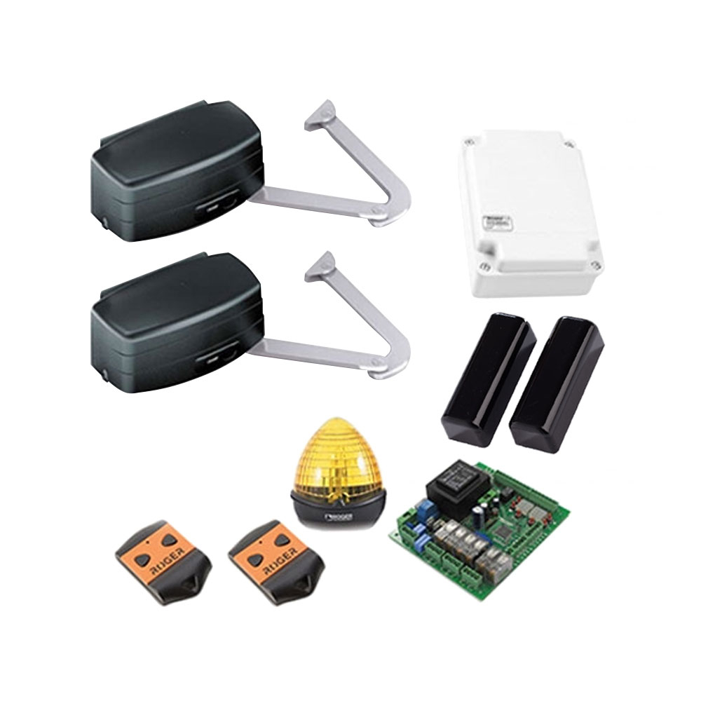 Kit automatizare poarta batanta Roger Technology R23/373, 3.5 m/canat, 400Kg/canat, 230 Vac imagine spy-shop.ro 2021